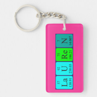 Lauren periodic table name keyring Single-Sided rectangular acrylic key ring
