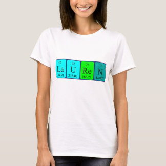 Lauren periodic table name shirt