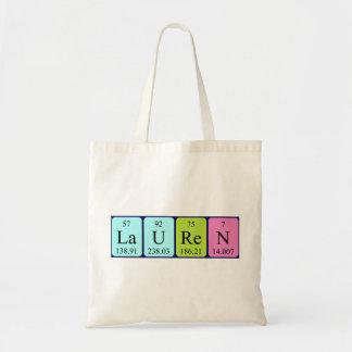 Lauren periodic table name tote bag