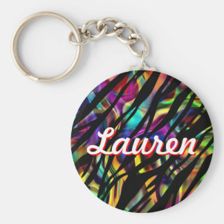 Lauren Personalized Colorful Keychain