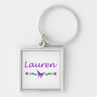 Lauren Purple Butterfly Keychain