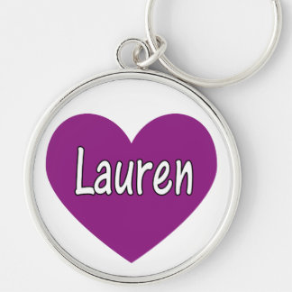 Lauren Silver-Colored Round Key Ring