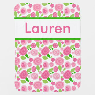 Lauren's Personalized Rose Blanket