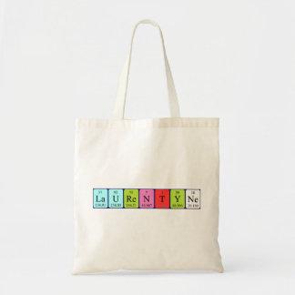 Laurentyne periodic table name tote bag