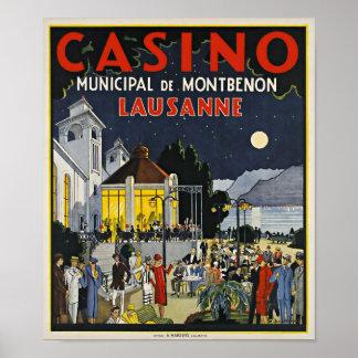Lausanne, Casino Municipal de Montbenon Art Deco Poster