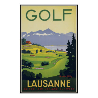 Lausanne Golf Poster