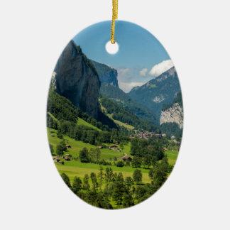 Lauterbrunnen  - Bernese Alps - Switzerland Ceramic Oval Decoration