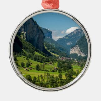 Lauterbrunnen  - Bernese Alps - Switzerland Silver-Colored Round Decoration