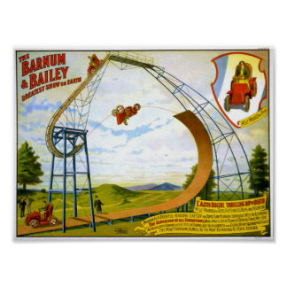 L'Auto Bolide Thrilling Dip of Death Circus Poster