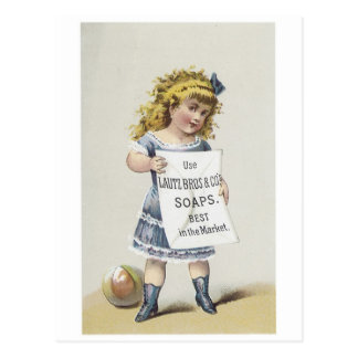 Lautz Bros Soaps - Little Blonde Girl Post Cards