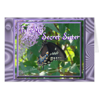 Lav-Butterfly Secret Sister- or any ocassion Card