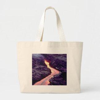 lava bend curves large tote bag