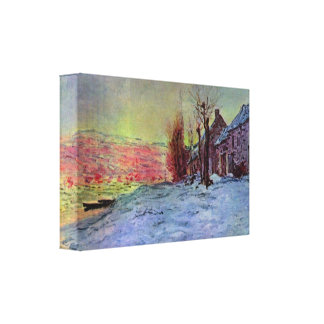Lava Court - sunshine and snow by Claude Monet Gallery Wrap Canvas