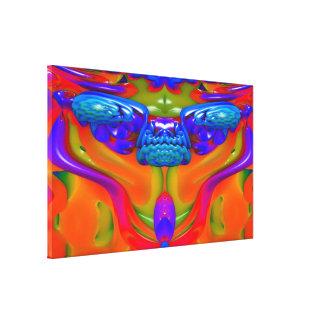 Lava Creature Stretched Canvas Print