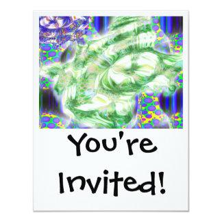 lava dreams nuclear abstract art 11 cm x 14 cm invitation card
