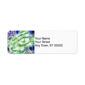 lava dreams nuclear abstract art return address label