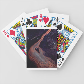 Lava flow mix bicycle playing cards