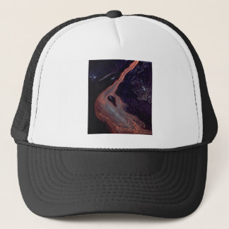 Lava flow mix trucker hat