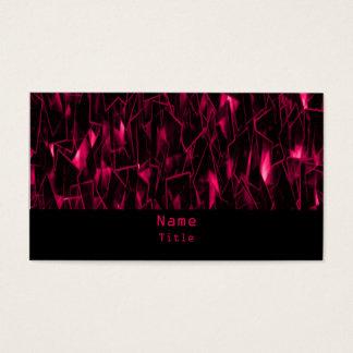 Lava Fractal Business Card, Pink Business Card