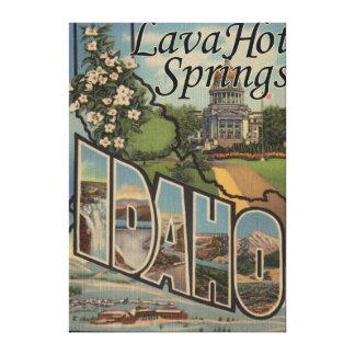 Lava Hot Springs, Idaho - Large Letter Scenes Canvas Print