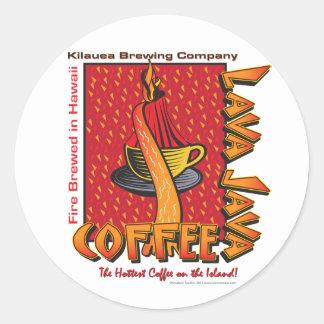 Lava Java Hawaiian Coffee Round Sticker