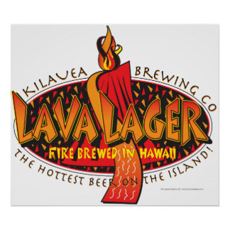 Lava Lager Hawaiian Beer Poster