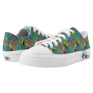 LAVA LAMP CURIOUS FLOWER EMERALD LOW TOPS