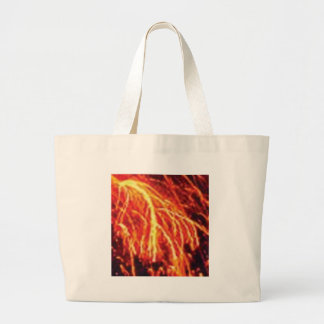 lava lightning large tote bag