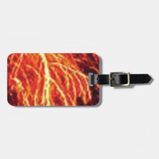 lava lightning luggage tag