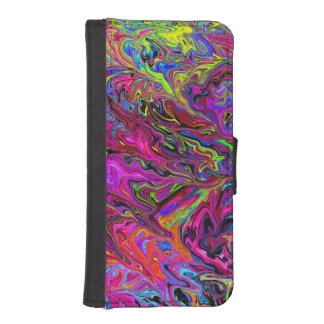 Lava of Colors iPhone 5/5s Wallet Case Phone Wallet Cases