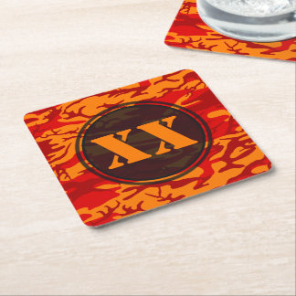 Lava Red Camouflage Coaster w/ Text