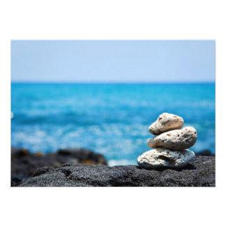 Lava Rock Coral Hawaii Ocean Tropical Beach Custom Invite