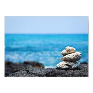 """Lava Rock Coral Hawaii Ocean Tropical Beach 4.5"""" X 6.25"""" Invitation Card"""