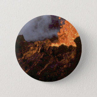 Lava splatter and flow 6 cm round badge