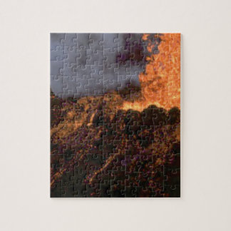 Lava splatter and flow jigsaw puzzle