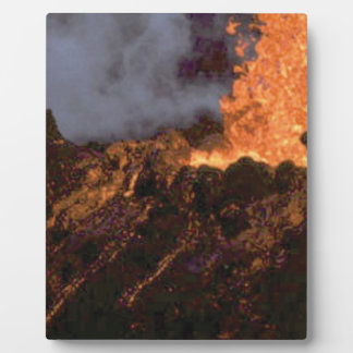 Lava splatter and flow plaque