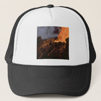 Lava splatter and flow trucker hat