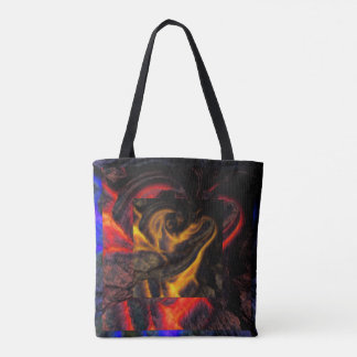 Lava Tones Pattern Tote Bag
