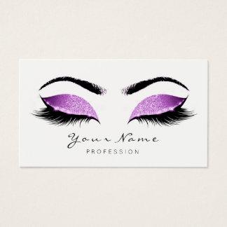 Lavanda Glitter Makeup Beauty Lashes Extension Business Card
