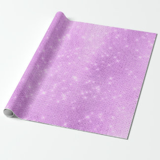 Lavande Purple Amethyst Plum Sparkly Sequins Wrapping Paper