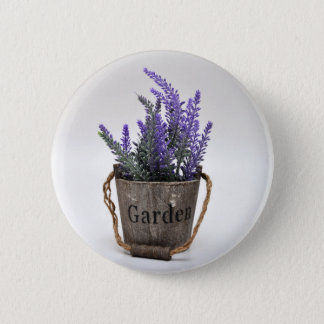 lavander 6 cm round badge