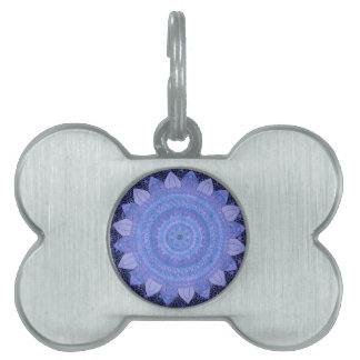 Lavander Baroque Mandala Pet Tag