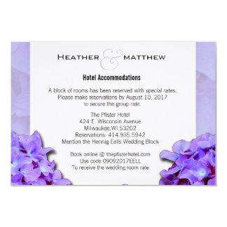 Lavander Hydrangeas Room Reservations Card