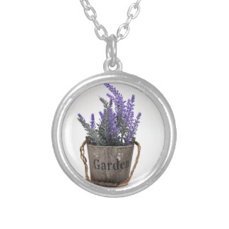 lavander silver plated necklace