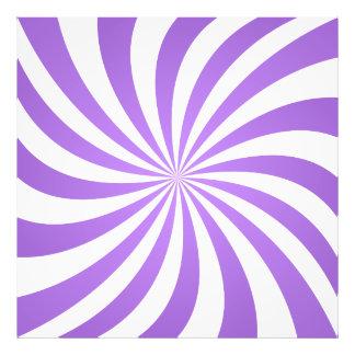 Lavander spiral design photo print