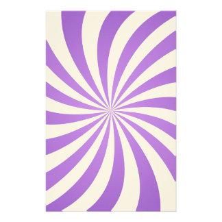 Lavander spiral design stationery