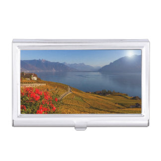 Lavaux region, Vaud, Switzerland Business Card Holder