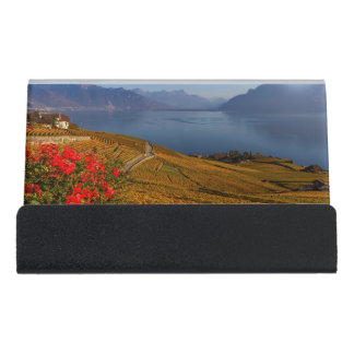 Lavaux region, Vaud, Switzerland Desk Business Card Holder
