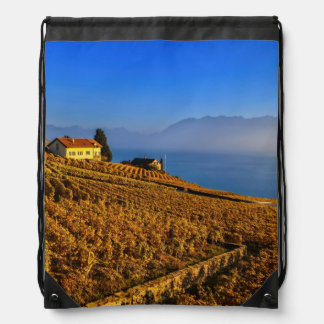 Lavaux region, Vaud, Switzerland Drawstring Bag