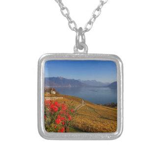 Lavaux region, Vaud, Switzerland Silver Plated Necklace